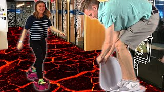 People Play The Floor-Is-Lava Challenge For A Day