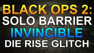 Black Ops 2 Zombies Glitches: Solo Pile up Glitch - Collect Power ups - Die Rise Glitch