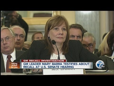GM CEO Mary Barra testifies about recall at U.S. Senate hearing