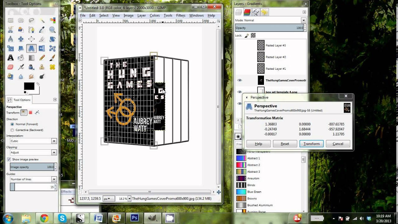 How To Make A Book Cover Using Gimp : Gimp d book boxed set template tutorial youtube