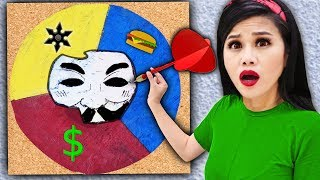 Throwing a DART at a MAP & Hacker Girl PZ4 Unmasking Whatever It Lands On - Spy Ninja Challenge