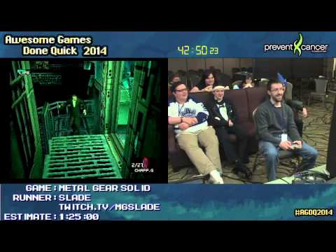 AGDQ 2014 - Metal Gear Solid - SLADE - Speedrun
