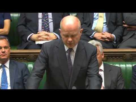 UK FM William Hague resigns in surprise move