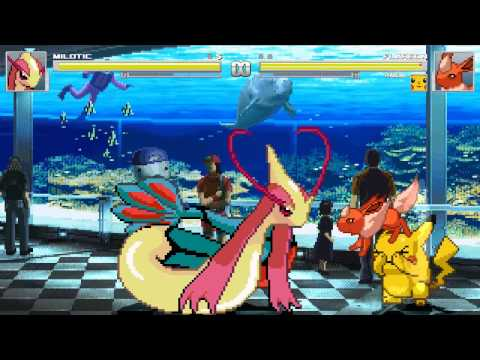 Mugen Vore - (Merufimu)Milotic vs Flareon and Pikachu + Download Link!