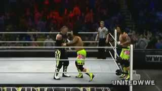 New Age Outlaws Vs The Usos ELIMINATION CHAMBER 2014 Tag