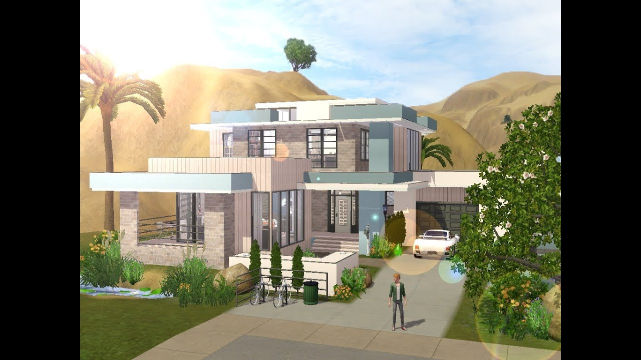 House plans and design modern house plans in sims 3 for Classic house sims 3