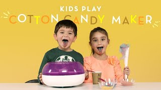 Kids Play with a Cotton Candy Maker   Kids Play