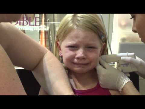 ella gets her ears pierced