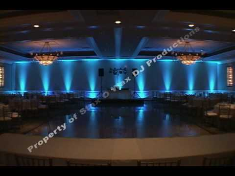LED Decor Lighting (uplighting) for Chicago area Weddings