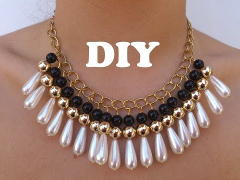 DIY Necklace Collar muy de moda
