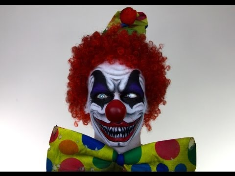 Scary Clown MakeUp Tutorial for Halloween