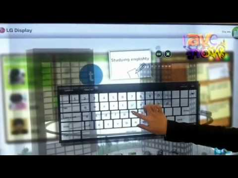 LG Demos Cool HD 120Hz Transparent LCD Display