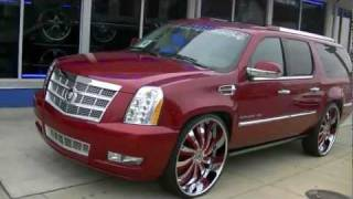 "2012 Escalade Platinum On 30"" Inferno Forgiatos"