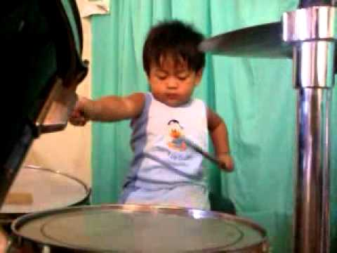 Renren 1 y/o and 10 mos old  Drummer Boy