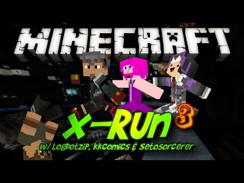 Minecraft: X-Run III (Even More Fail!) - w/ Setosorcerer, Kkcomics & Logdotzip Review Thumbnail