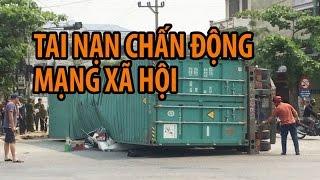 TAI NẠN ở NAM ĐỊNH | 2 nhà giáo chết thảm vì container đè xe 4 chỗ
