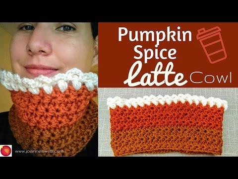 Pumpkin Spice Latte Cowl | Crochet Jasmine Stitch | Holidays 2016 DIY Gift Idea