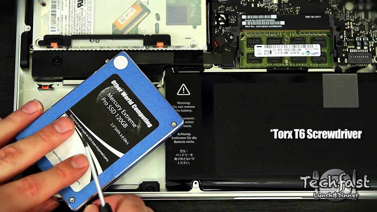 MacBook Pro with Retina display innards, labelled