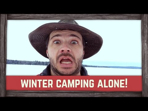 Winter outdoor camping alone!