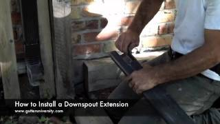 How To Install A Downspout Extension