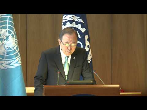 Ban Ki-moon: decent work for youth backbone of development
