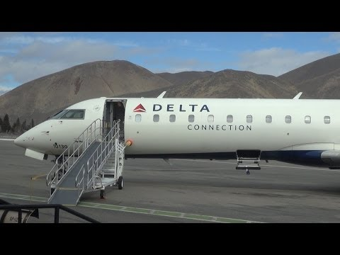 Delta Airlines flight from Sun Valley to Salt Lake City, USA