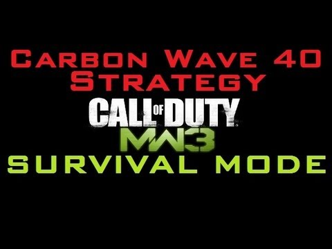 MW3 Survival CARBON Wave 40 Strategy (Gameplay Commentary)