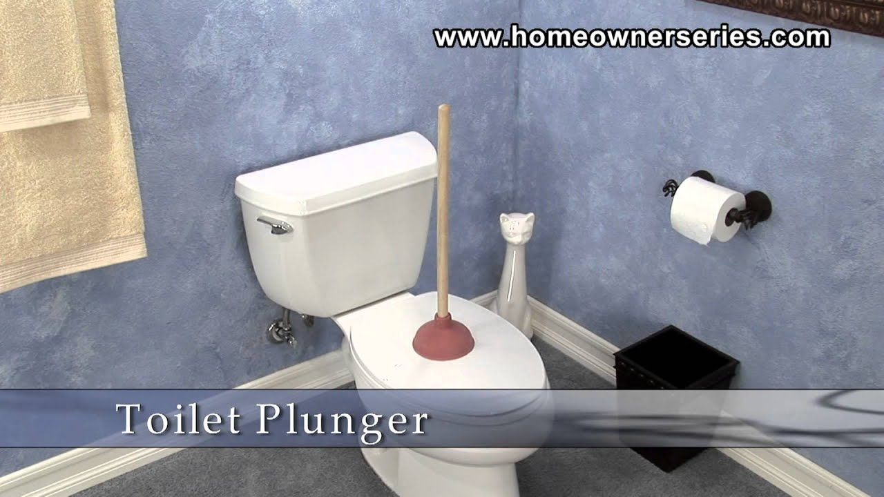 how to fix a toilet tools plunger youtube. Black Bedroom Furniture Sets. Home Design Ideas