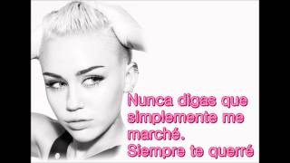 Wrecking Ball Miley Cyrus (Subtitulos En Español) HQ