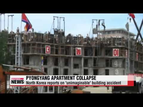 North Korea reports on 'unimaginable' building collapse