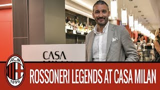 AC Milan Legends interview at Casa Milan Bistrot/Fourghetti