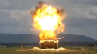 Missile meledakan tank baja