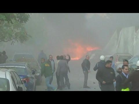 HUGE BEIRUT EXPLOSION KILLS FORMER LEBANESE MINIST image