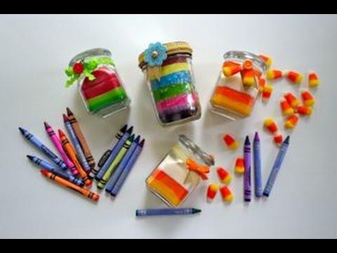DIY Cómo hacer velas con crayolas