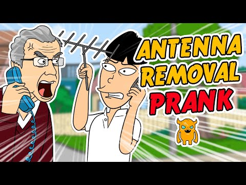 Angry Antenna Removal Prank (animated) - Ownage Pranks