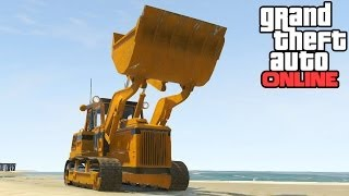 GTA Online: Bulldozer Location! HVY Dozer Secret Vehicle