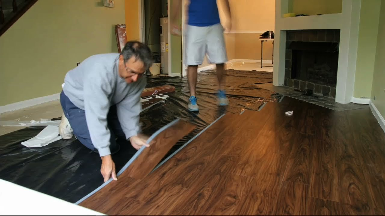 Allure Flooring Installation Timelapse Youtube