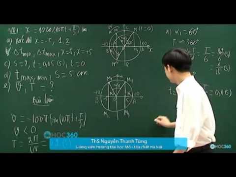 Dạng 5   Mối quan hệ giữa chuyển động tròn đều và dao động điều hòa 1   YouTube
