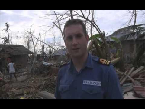 HMS Daring Providing Aid to the Philippines - 20 November 2013