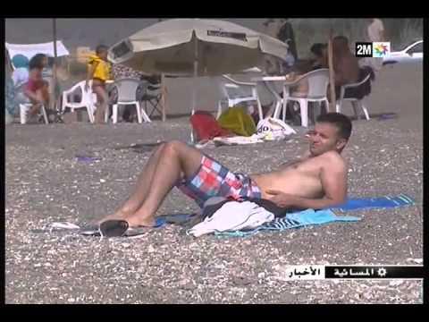 إقبال واسع على شواطئ الحسيمة وخطورة التعرض لأشعة الشمس