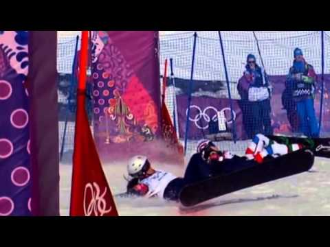 Sochi 2014 Samkova dominates for snowboard cross gold  - 16 February 2014