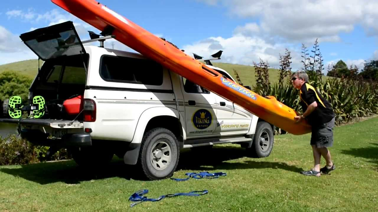 How to load & unload your kayak on a roof rack | Viking Kayaks - YouTube