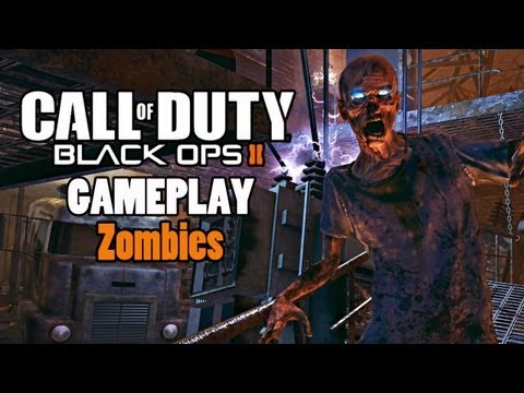 1st Black Ops 2 Zombies Gameplay + Theater Mode (COD BO2 Zombie Campaign Tranzit)