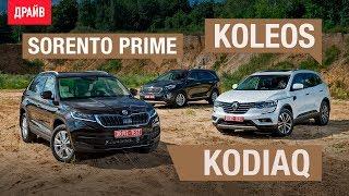 Skoda Kodiaq • Renault Koleos • Kia Sorento Prime — сравнительный тест-драйв. Видео Тесты Драйв Ру.