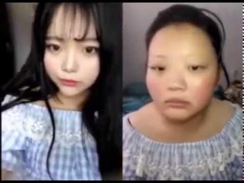 Cô gái xấu xí biến thành xinh đẹp như hotgirl Nhật Bản sau khi trang điểm.
