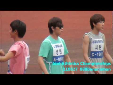 [fancam] 110827 Idol Athletics Championships Super Junior  Forcus Sungmin  1