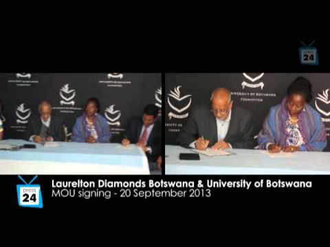 MOU signing between  Laurelton Diamonds Botswana  and UB Foundation