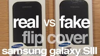 FAKE Vs. AUTHENTIC: Samsung Galaxy S3 Flip Cover