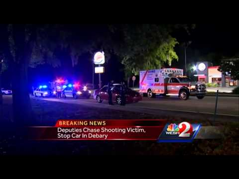 Police chase shooting victim, stop car in Debary