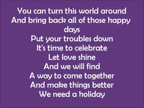 Madonna - Holiday - Lyrics